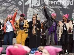 There are black women not named Oprah running for office across the country. LUCIA MCBATH (FAR LEFT) AT THE WOMEN'S MARCH ON WASHINGTON, JANUARY 21, 2017. CREDIT: NOAM GALAI/WIREIMAGE