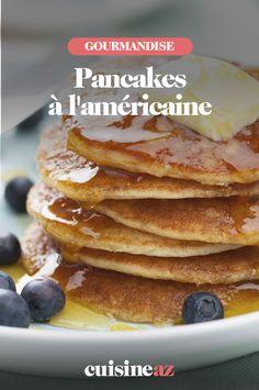 La recette des pancakes à l'américaine est idéale pour le petit déjeuner ! #recette#cuisine#pancake#petitdejeuner Pancakes, Scones, Breakfast, Food, Waffles, Morning Breakfast, Food Porn, Morning Coffee, Essen