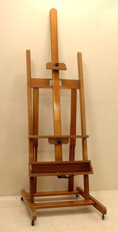 For the flat screen TV: Vintage artist painting easel