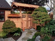 Yokoso Japanese Gardens, specialized professional garden construction and landscaping service Japanese garden Japanese Fence, Japanese Garden Plants, Japanese House, Japanese Gardens, Zen Garden Design, Japanese Garden Design, Diy Garden, Garden Entrance, Garden Gates