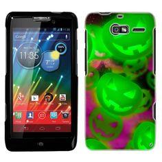 Amazon.com: Motorola Droid Razr M Glowing Green Pumpkins Pattern Phone Case Cover: Cell Phones & Accessories