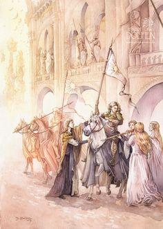 The Vanyar preparing for the War of Wrath Jenny Dolfen Illustration