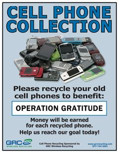 Recycle Your Cell Phones to Support Our Troops!
