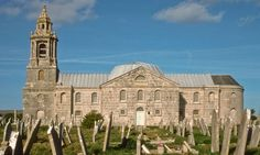 Arresting sight: St George's church built of Portland stone stands supreme on the Isle of Portland in Dorset.
