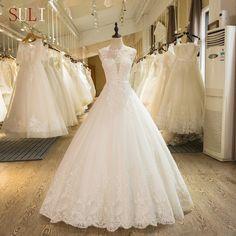 SL-1 pearl lace wedding dress bridal gwon Ivory Wedding a1d864f26545