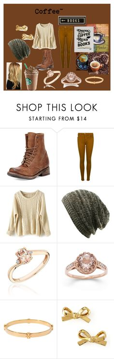 """""""Coffee Club~"""" by abiersack22 ❤ liked on Polyvore featuring Freebird, J Brand, Reeds Jewelers, Gioelli, Tory Burch, Kate Spade and Spicher and Company"""