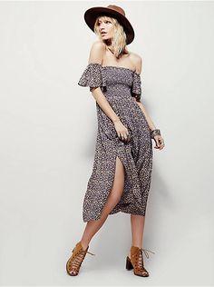 Free People Louise Printed Midi Dress, $98.00