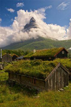 Renndølsetra in Innerdal Valley, Norway