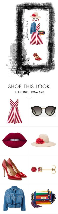 """""""June...No. 1"""" by onesweetthing ❤ liked on Polyvore featuring RED Valentino, Dolce&Gabbana, Lime Crime, Eugenia Kim, Salvatore Ferragamo, dolceandgabbana, SalvatoreFerragamo and RedValentino"""