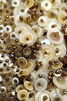 Andrea Gutierrez - Sequin Couture Cuff. look at how the sequins and pearls are assembled, creating a 3D surface