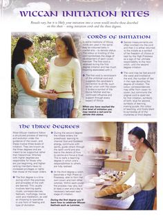 Book of Shadows:  #BOS Wiccan Initiation Rites page.