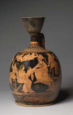 Squat Lekythos attributed to Meidias Painter (Greek) Date: c. Cleveland Art, Cleveland Museum Of Art, Pottery Supplies, Greek Pottery, Ancient Art, Ancient Greek, Roman Art, Greek Art, Art And Architecture