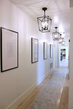 Parade of Homes 2019 * New Home Ideas * Shiloh Ridge Hallway Wall Decor, Hallway Walls, Upstairs Hallway, Entry Hallway, Hallways, Hallway Wall Lights, Decorating Long Hallway, Foyers, Hall Lighting
