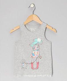 Heather Gray Wish Tank - Toddler & Girls by Eddie & Stine by Eddie Bauer on #zulily