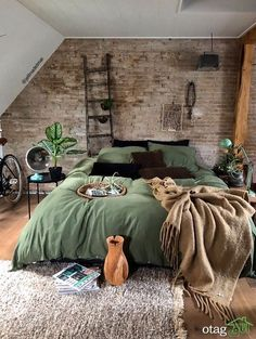 Rustic Boho Loft The decoration of home is similar to an exhibition space that reveals our tastes and design ideas and then we naturally . Home Decor Bedroom, Modern Bedroom, Bedroom Ideas, Contemporary Bedroom, Master Bedroom, Bedroom Colors, Bedroom Designs, Bedroom Romantic, Bedroom Simple