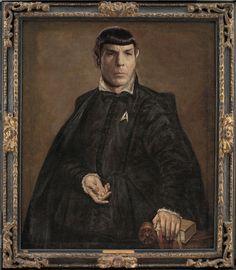 STARFLEET INTELLIGENCE FILE: Commander Spock; Portrait in Italian Nobility Garb; 1495