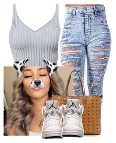 """""""Feeling this """" by trillest-queen ❤ liked on Polyvore featuring MCM and Retrò"""