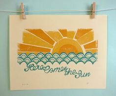 Here Comes the Sun Print by automatte on Etsy, $15.00