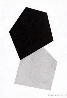 Teodosio Magnoni — Progetto per scultura, Smalto su carta (2003)