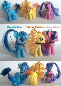 My little Pony Customs G4 Sirens merponies by BerryMouse.deviantart.com on @DeviantArt