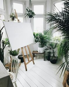 Ideas For Home Office Plants Art Studios – Creative Home Office Design Art Studio Design, Art Studio At Home, Home Art Studios, Art Studio Decor, Design Studios, Art Decor, Design Art, Interior Design, Creative Home
