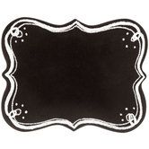 Black Ornate Chalkboard with Dotted Corners