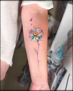Tattoo Regina Pochanina - tattoo's photo In the style Watercolor, Female, Flowe Mini Tattoos, Tattoos Bein, Small Tattoos, Tatoos, Family Tattoos, Arrow Tattoos, Finger Tattoos, Body Art Tattoos, Sleeve Tattoos