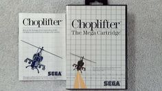 Choplifter #Sega Master System, Game, Case and Instructions Near Mint.