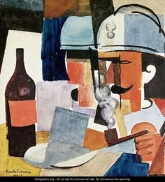 Roger de La Fresnaye   Soldier with Pipe and Bottle