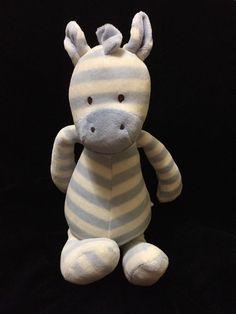 Jellycat Twibble Zebra Soft Toy Blue White Cream Stripe Medium Plush Comforter   eBay