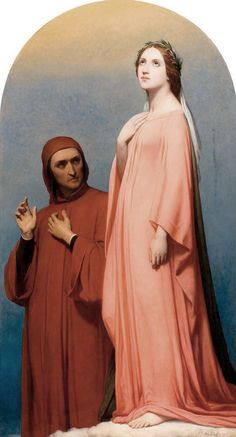 The Vision, Dante and Beatrice  Ary Scheffer (1795–1858)