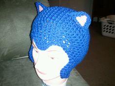 Beginning of sonic hedgehog hat