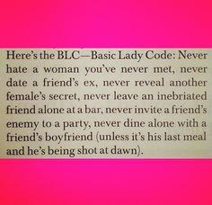 Basic Lady Code.