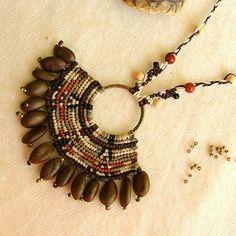 Macrame OOAK indígena inca tribales semilla por MammaEarthCreations