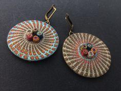 JH jewelry earrings Jh Logo, Polymer Clay, Bronze, Drop Earrings, Stuff To Buy, Jewelry, Etsy, Jewlery, Bijoux