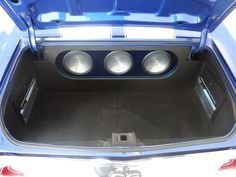 1971 Chevrolet Chevelle SS Clone custom car audio trunk fiberglass stereo install subwoofers amps