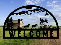 Metal cut out Pheasant Hunter http://metaldesignworx.com/mountain.html  hunter sign, rustic decor, log cabin decor, country decor, hunting decor, bird hunter, pheasant sign