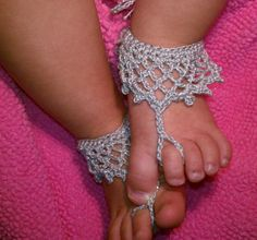 PDF PATTERN 07 crochet princess baby barefoot sandals by Kilegna