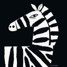 Zebra by Rob Blackard Zebra Illustration, Zebra Art, Art For Art Sake, Preschool Art, Painting Inspiration, Graphic Art, Art Drawings, Art Projects, Art Prints