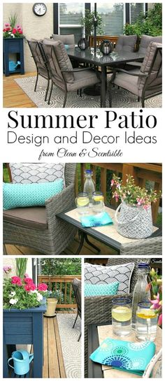 Beautiful patio design and decor ideas!
