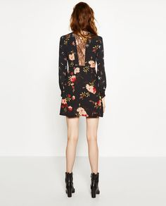 Image 4 of SHORT PRINTED DRESS from Zara