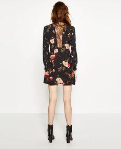 Image 4 of SHORT PRINTED DRESS from Zara