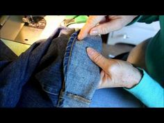 Hemming jeans the Euro/Tricky style. Just like Nordstroms this quick tutorial will give you a practical approach...it doesnt get any easier than this.  Quicky! Tricky!
