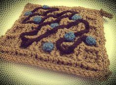 Free Blueberry Waffle Potholder Crochet Pattern