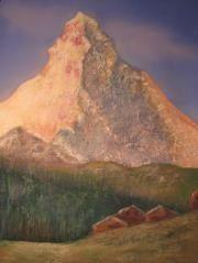 """""""The Matterhorn  """"pastel on homemade sanded paper"""