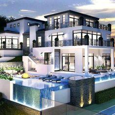 Antoinette Topaz, mas conocida como Toni Topaz , es una empresaria mu… #fanfic # Fanfic # amreading # books # wattpad Luxury Modern Homes, Luxury Homes Dream Houses, Dream Homes, Modern Mansion Interior, Luxury Homes Exterior, Luxury House Plans, Dream Home Design, Modern House Design, House Structure Design