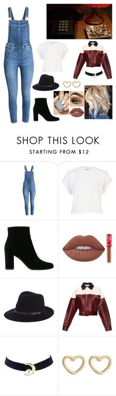 """AND BOW BACK TO OUR REGULARLY SCHEDULED PROGRAMMING"" by lovelygirl606 ❤ liked on Polyvore featuring River Island, Yves Saint Laurent, Lime Crime, rag & bone, Marni and Marc by Marc Jacobs"
