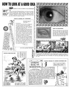 """Ad Reinhardt, """"How to Look at a Good Idea,"""" PM (August 4, 1946) (© 2013 Estate of Ad Reinhardt / Artists Rights Society [ARS], New York; cou..."""
