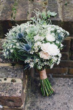 Wild Bridal Bouquet | Rime Arodaky Bridal Separates Caplan Top & Arizona Skirt | Brixton East 1871 London Wedding Venue | Jam Jar Florist | Hermione McCosh Photography | http://www.rockmywedding.co.uk/anna-ben/