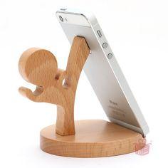 Cheap Madera sostenedor del teléfono nuevo niños de kung fu y estilo de madera del caballo soporte móvil universal , regalo especial para la muchacha y boy friend, Compro Calidad Soportes directamente de los surtidores de China: